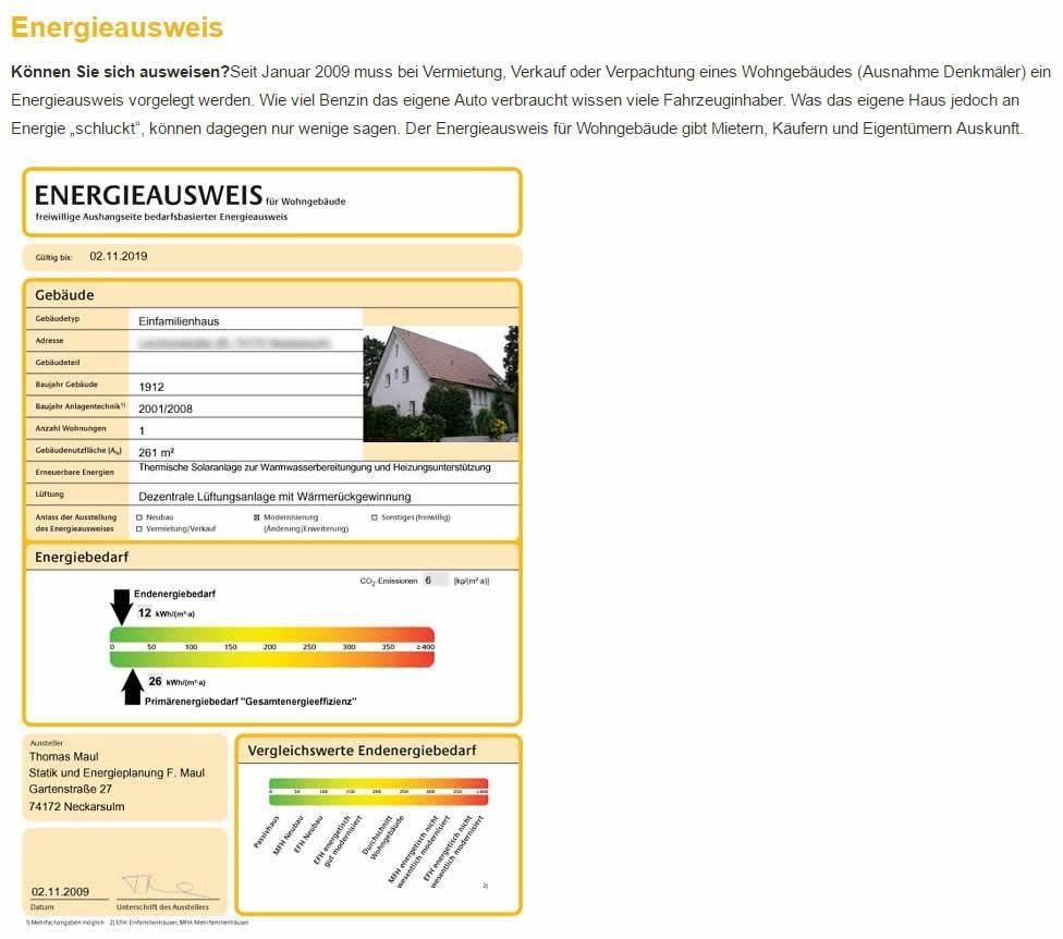 Energieausweis Anbieter für  Heilbronn