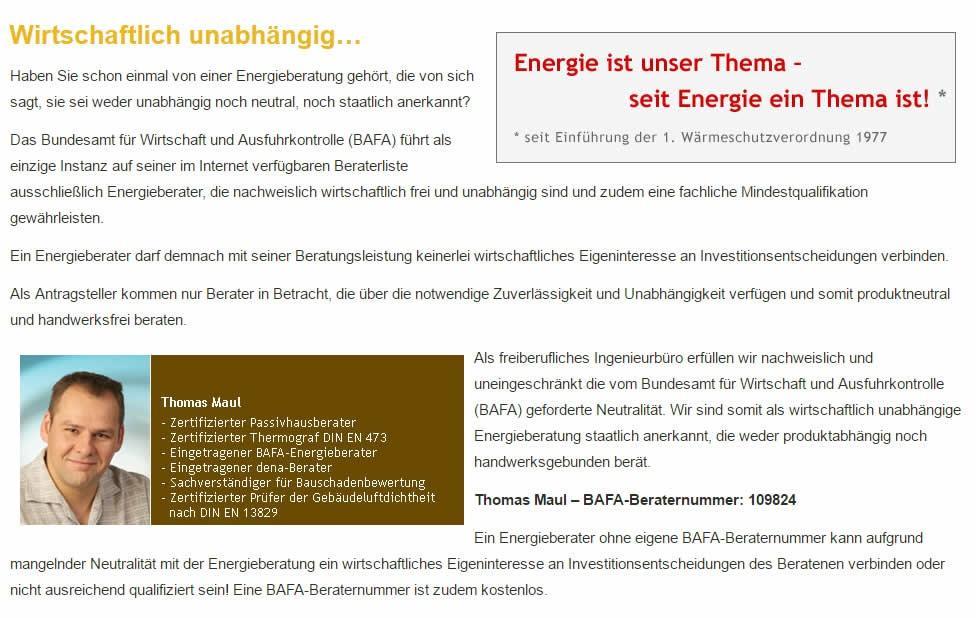Energieberatung aus 74072 Heilbronn: Energiebearater-Maul.