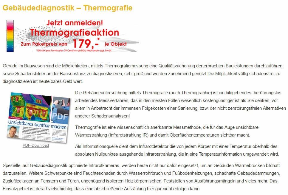 Thermografie, Gebäudediagnostik   Heilbronn