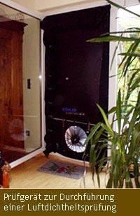 Prüfgerät zur Durchführung einer Luftdichtheitsprüfung